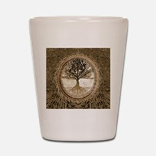 Tree of Life in Brown Shot Glass