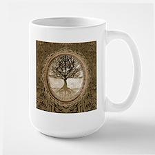 Tree of Life in Brown Mugs