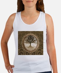 Tree of Life in Brown Tank Top