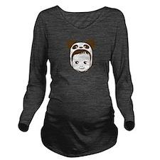 Panda Baby Long Sleeve Maternity T-Shirt