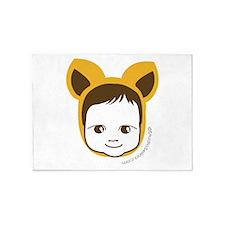 Fox Baby 5'x7'Area Rug