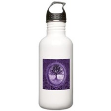 Tree of Life in Purple Water Bottle