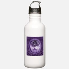 Tree of Life in Purple Water Bottle