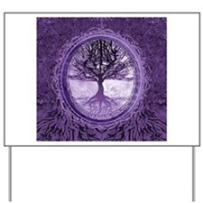 Tree of Life in Purple Yard Sign