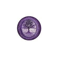 Tree of Life in Purple Mini Button