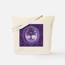 Tree of Life in Purple Tote Bag
