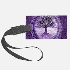Tree of Life in Purple Luggage Tag