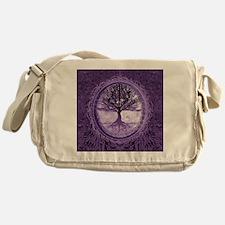 Tree of Life in Purple Messenger Bag