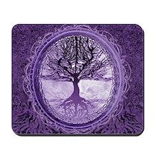 Tree of Life in Purple Mousepad
