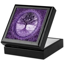 Tree of Life in Purple Keepsake Box