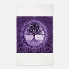 Tree of Life in Purple 3'x5' Area Rug