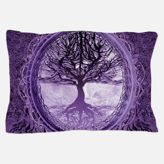 Tree of Life in Purple Pillow Case