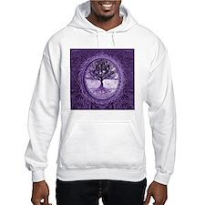 Tree of Life in Purple Hoodie