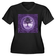 Tree of Life in Purple Plus Size T-Shirt