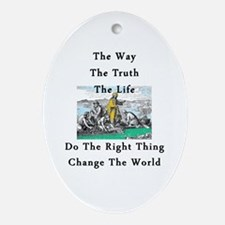 Change the World Ornament (Oval)