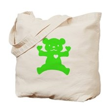 Green Bear Tote Bag