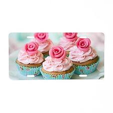 Cupcake Aluminum License Plate