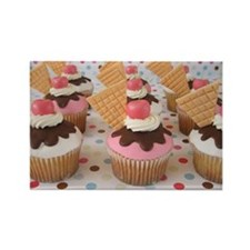 Cupcake Rectangle Magnet