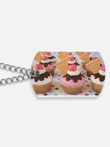 Cupcake Dog Tags