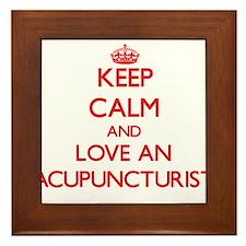 Acupuncturist Framed Tile