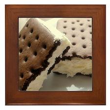 Cookie ice cream Framed Tile