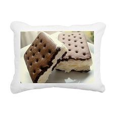 Cookie ice cream Rectangular Canvas Pillow