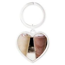 Milkshake Heart Keychain