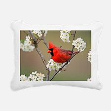Red Cardinal Photo Rectangular Canvas Pillow