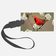 Red Cardinal Photo Luggage Tag
