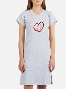 Baby Hands and Feet in Heart 2 Women's Nightshirt