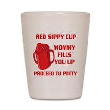 RED SIPPY CUP Shot Glass