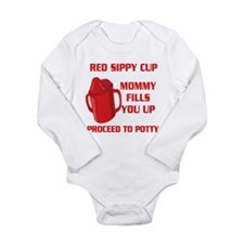 RED SIPPY CUP Body Suit