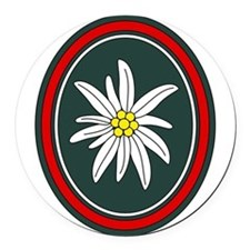 Edelweiss Round Car Magnet