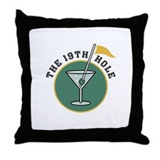 Golf Drinks Throw Pillow