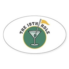 Golf Drinks Oval Decal