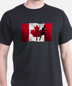 Boxing Canadian Flag T-Shirt