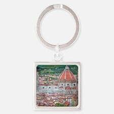 The Duomo of Florence Square Keychain