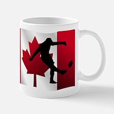 Rugby Kick Canadian Flag Mugs