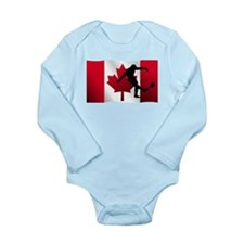Rugby Kick Canadian Flag Body Suit