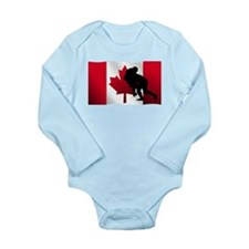 Rugby Tackle Canadian Flag Body Suit