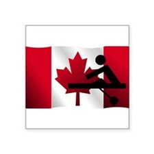 Rowing Canadian Flag Sticker