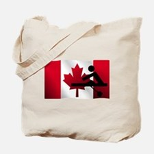 Rowing Canadian Flag Tote Bag