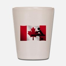 Rowing Canadian Flag Shot Glass