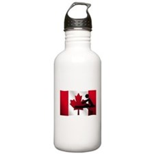 Rowing Canadian Flag Sports Water Bottle