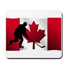 Hockey Canadian Flag Mousepad