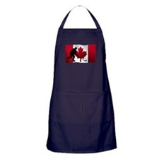 Hockey Canadian Flag Apron (dark)