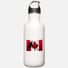 Hockey Canadian Flag Sports Water Bottle
