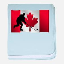 Hockey Canadian Flag baby blanket