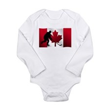 Hockey Canadian Flag Body Suit