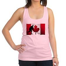 Hockey Canadian Flag Racerback Tank Top